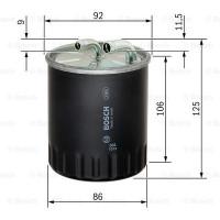 Фильтр топливный без отверствия